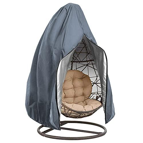 Copertura per Mobili da Giardino Coperture per mobili da giardino per sedia a battente,patio appeso uovo sedia copertura, panno per oxford da 210d resistenti con cerniera,anti-polvere impermeabile ant