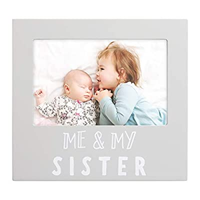 Pearhead Me & My Sister Sentiment Photo Frame, Big Sister or Brother Gift, Sibilng Pictures, Gray by AmazonUs/PEKJ9