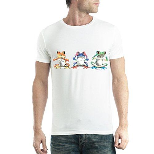 Tres Ranas Sabias Hombre Camiseta Blanco M
