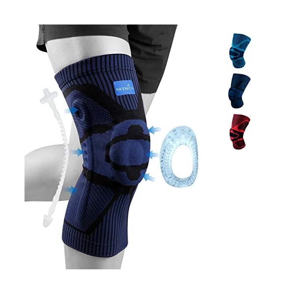 NEENCA Knee Brace,Knee Compression Sleeve Support with Patella Gel Pad & Side...