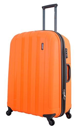 Orange Luggage X 77cm (30') Hard Sided Polypropylene Lightweight Trolley Suitcase