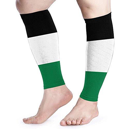 Vlag van Palestijnse Kalf Compressie Mouw Been Prestatie Ondersteuning Scheenbeen Splint Kalf Pijn Verlichting