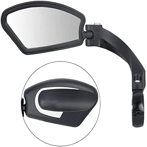 Espejo retrovisor irrompible para el manillar de la conducción, conducción segura HD 360°, espejo lateral ajustable, para bicicletas de carreras, furgonetas, autobús unive (A, Freesize)