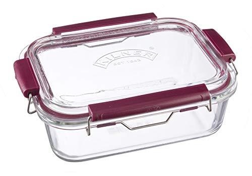 Frischhaltedose aus Borosilikatglas mit auslaufsicherem Clipverschluss-System, BPA-frei, backofen- und mikrowellenfest, 1.400 ml, Maße: 24,5 x 19 x 8,5 cm