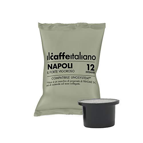 FRHOME Il Caffè Italiano Capsule compatibili con UNO System, Miscela Napoli Intensità 12, Confezione da 100 Capsule