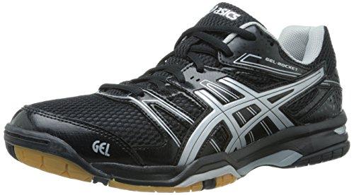 ASICS Women's Gel Rocket 7 Volley Ball Shoe,Black/Silver,9 M US
