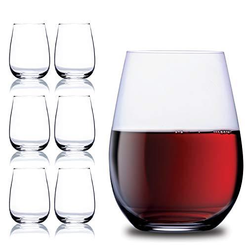 Chef 's Star Weingläser-Set ohne Stiel, 425 g–klassische, langlebige Weingläser, ideal für alle Anlässe–verpackt in einer Geschenkbox–tolle Geschenkidee–bruchsicheres Glas, 6-erPack.