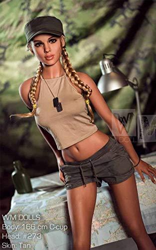 WM Dolls Jenna blond 160cm TPE Doll Liebespuppen Weiblich Silikon Lebensecht 3 Öffnung Vagina Anus Oral für Männer (160)