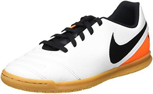 Nike JR Tiempo Rio III IC, Scarpe da Calcio Unisex – Bambini, Bianco (White/Black-Total Orange), 36 EU