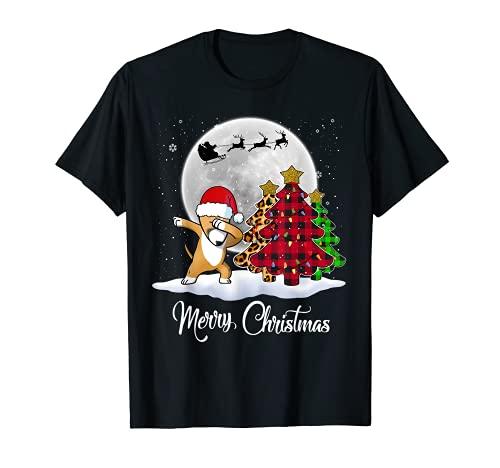 Dabbing Bull Terrier Dab - Árbol de Navidad para perro Camiseta