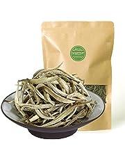 GOARTEA 500g (17.6 Oz) Supreme Chinese Organic Bai Hao Yin Zhen BaiHaoYinZhen Silver Needle White Loose Tea Blanco