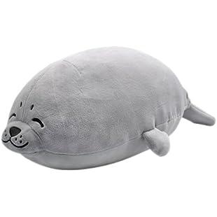 YINGGG Seal Soft Plush Pillow Animal Stuffed Toy Gift 60cm, Medium, Grey