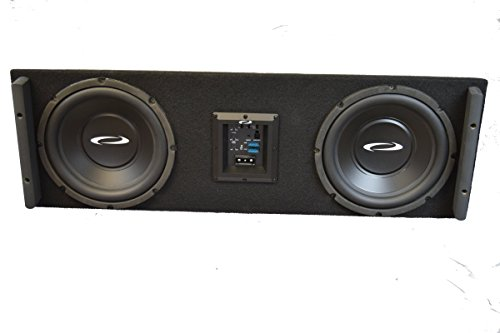 "OBCON - Loaded and Powered Dual 10"" Sealed Speaker Box for Jeep Wrangler (All Years)"