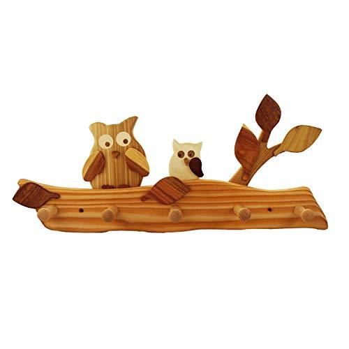 mitienda mit Liebe gemacht Kindergarderobe aus Holz, Eule,Kindergarderobe, Kinderwelt