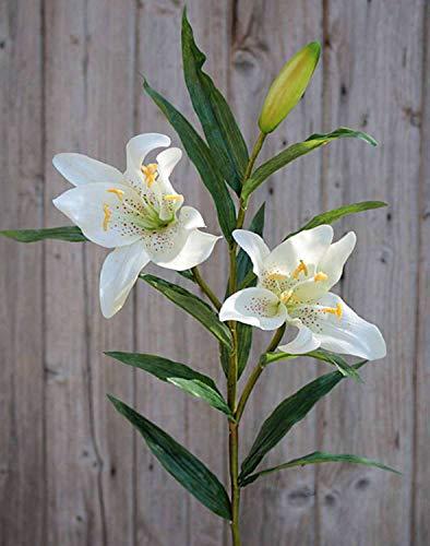 PARC Network - Prachtlilie Künstlich, real Touch, weiß, 85cm, Ø 15cm - Lilie Künstlich - Kunst Lilien - Deko Lilien - Seidenblumen - Kunstblumen