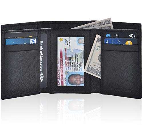 Trifold Wallets for Men - Real L...