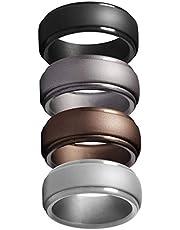 Anelli in silicone, unisex, 4 pezzi (4 colori)