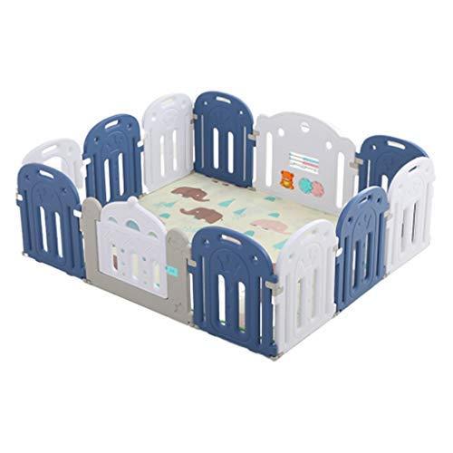 no brand Parcs for Enfants, bébé Peut y Jouer, Design Pliable Maison enfants'S sécurité Crawling Mat Parcs Poussettes (Color : Blue)