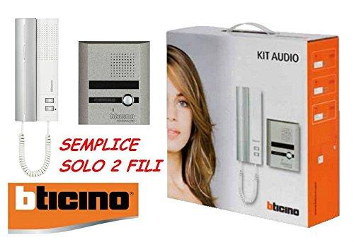 BTicino 316113 Kit Citofono Monofamiliare Audio a 2 Fili Espandibile da Parete