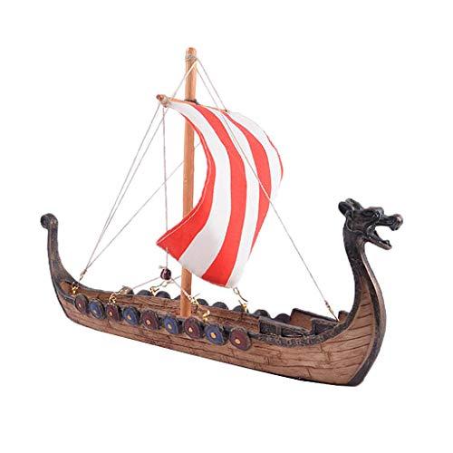 Modelo de Barco Pirata de Resina, Regalos de Fengshui, Nuevos Regalos de Boda - A- 25.5x5.5x17.5cm