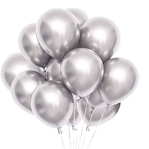 Metallic zilveren ballonnen 12 inch 50 stks partij ballonnen verjaardag helium ballon chroom latex ballonnen