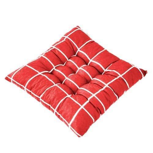 XHYHENJF Stripe Sitzkissen Rückenkissen Krawatte auf Stuhl Kissen Sofa-Sitzkissen-Auto-Auflage-Kissen for Home Office Soft-Platz 40x40cm (Color : Red)