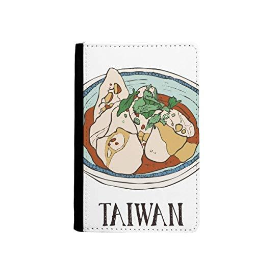 beatChong Lebensmittel Rindfleisch Nudeln Taiwan Reise-Pass-Halter Travel Wallet Abdeckungs-Fall Karten-Geldbeutel