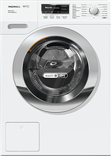 Miele WTF 130 WPM Waschtrockner für gute Wasch- und Trockenergebnisse/Weiß/Waschtrockner Kombi mit Dampffunktion/Waschmaschine mit Trockner (4 kg) und 7 kg Schontrommel