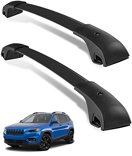 YITAMOTOR Roof Rack Cross Bars Compatible with 2014-2021 Jeep Cherokee, Aero Crossbars Rooftop Luggage Cargo Bag Camping Gear Fishing Poles Bike Carrier