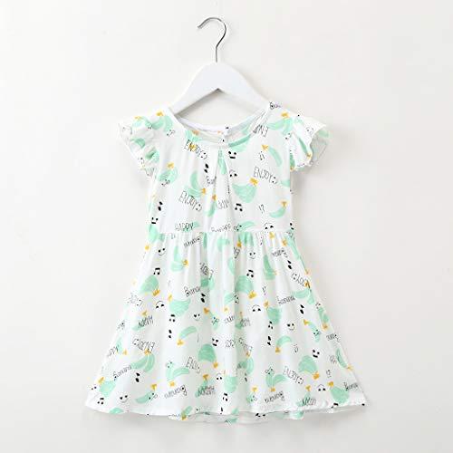 Janly Clearance Venta Vestido de niña para niños de 0 a 10 años de edad, bebé niña con estampado floral...