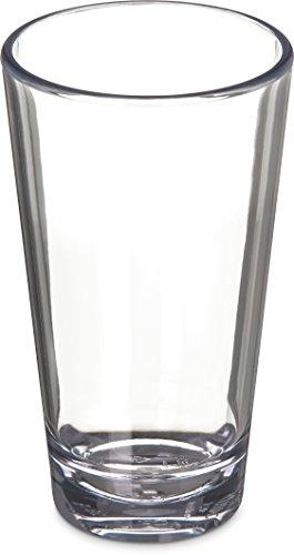 Carlisle 561607 Alibi Heavy-Weight Plastic Pint/Mixing Glass, 16 oz (Set of 24)