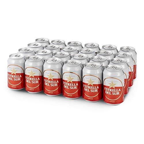 Estrella del Sur Cerveza, Pack de 24 Latas 33cl Cerveza Lager, Tradicional de Sevilla, en Lata, Original con Ingredientes de Calidad