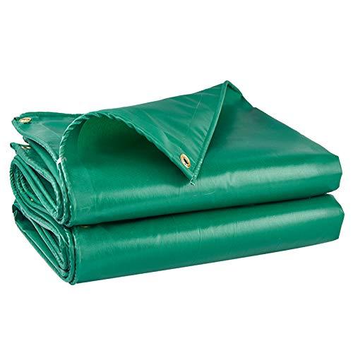 Lona Impermeable Verde para Exteriores, con Ojales De Metal Lona De PVC Multiusos para Carpa con Dosel Barco Camión Planta De Jardín 420 G/M²(Size:5×7M)