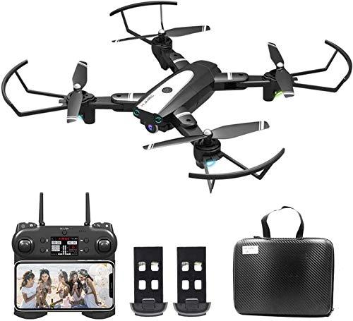 OBEST Drone con videocamera 4K HD, aereo WiFi FPV, modalità senza testa, foto gestuale, ritorno con un pulsante, capovolgimento 360, tempo di volo di 30 minuti (2 batterie)