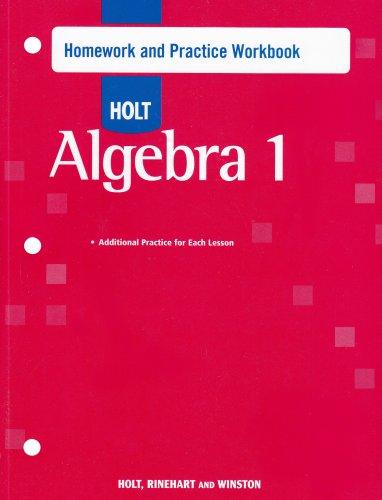 Algebra 1: Homework and Practice Workbook
