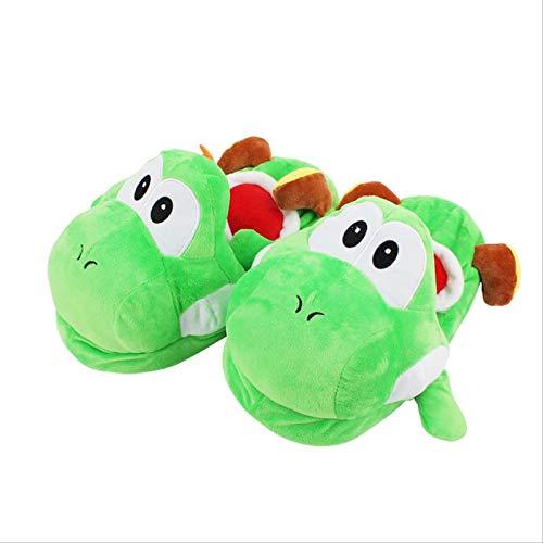 WEICHUANG Super Mario Bros Yoshi Erwachsene Plüsch Pantoffeln Home Winter Hausschuhe Schuhe Niedliche Plüsch Weiche Gefüllte Pantoffel Spielzeug 28Cm, Für Familien