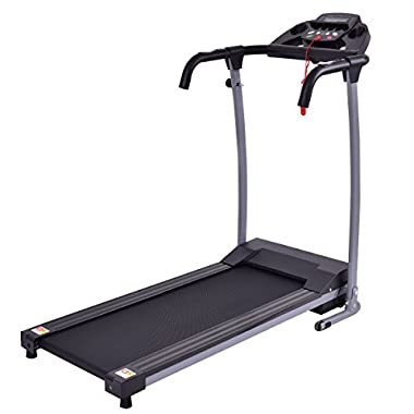 Goplus 800W Folding Treadmill Electric Motorized Power Fitness Running Machine W/Mobile Phone Holder (Black)