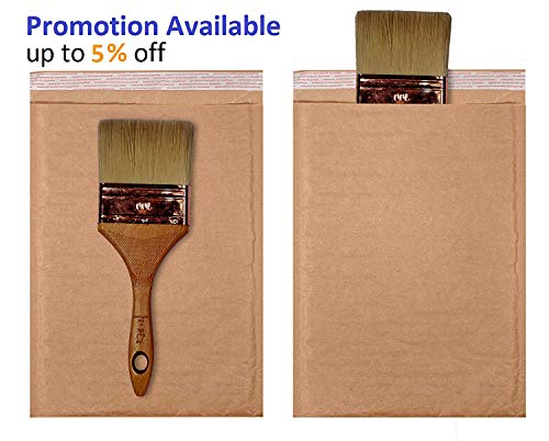 Pack of 250 Natural Kraft Bubble mailers 6x9 Brown Padded envelopes 6 x 9 by Amiff. Kraft Paper Cushion envelopes. Exterior Size 6x10 (6 x 10). Peel and Seal. Mailing, Shipping, Packing, Packaging. Photo #6