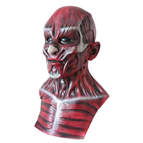 Horror Scary cráneo máscara de látex de Halloween for el partido de la mascarada de carnaval Disfraz de Cosplay Puntales DOISLL
