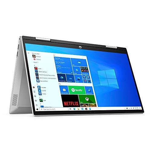 HP Pavilion x360 14-dy0212ng (14 Zoll / FHD IPS Touch) 2in1 Convertible (Intel Pentium Gold 7505, 8GB DDR4 RAM, 256GB SSD, Intel UHD Grafik, Windows 10) silber