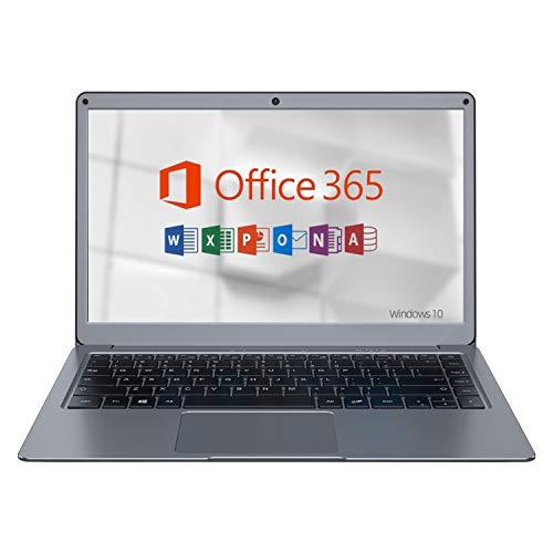 Jumper EZbook X3 Microsoft Office 365 Tage (13,3Zoll / FHD) Laptop ( 4GB DDR3 RAM, 64GB eMMC,Intel Dual Core,Intel HD Grafik 500,Bluetooth 4.2,Windows 10) Silber