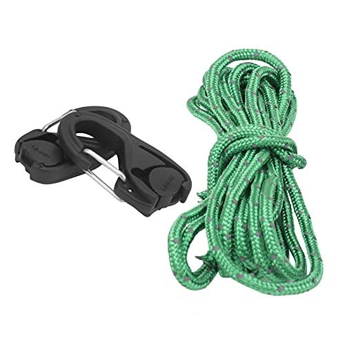 COHU Tensor de Cuerda, mosquetón de Cuerda de Amarre Fijo con 2 tensores de Cuerda para Atar un toldo de Lona de Tienda o Cualquier Otra Herramienta de Peso Ligero o Mediano para la mayoría de