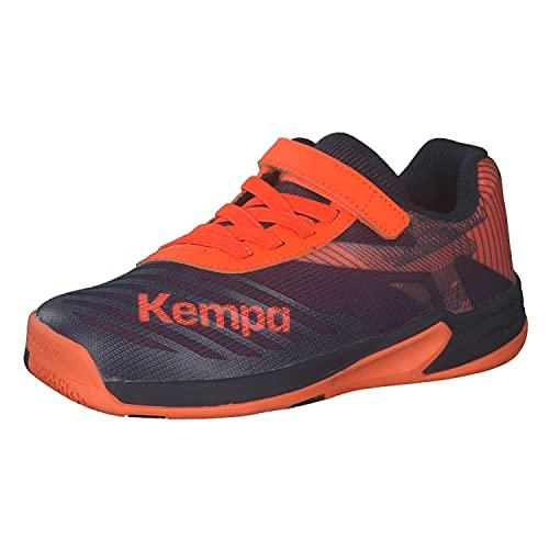 Kempa Wing 2.0 JUNIOR Handballschuh, Marineblau/Neonorange, 38 EU