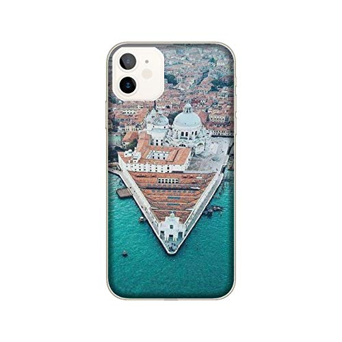 Funda iPhone 12 Mini Carcasa Compatible con Apple iPhone 12 Mini Ciudades Italianas Venecia/Imprimir también en los Lados. / Teléfono Hard Snap en Antideslizante Antideslizante Anti-Rayado resiste