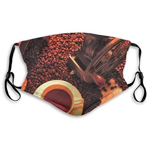 Herbruikbaar Ademend Masker Zon Gedroogde Zomer Koffiebonen Anti-Stof Oorlus Half Masker voor Feest