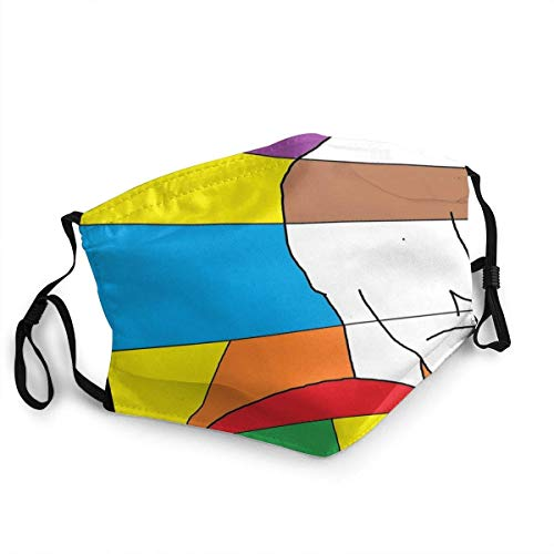 Gay Pride Scraf Shield Cover Washable Reusable Bandana Balaclava Face Mouth Cover Rainbow Colored LGBT Concept