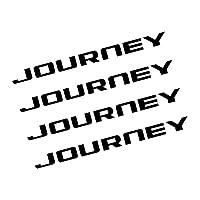 4PCSカーホイールリムステッカーダッジアベンジャーキャリバーキャラバンチャレンジャーチャージャーダートデュランゴジャーニーナイトロRAMオートアクセサリー用 (For JOURNEY)