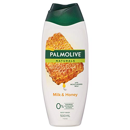 Palmolive Naturals Milk and Honey Body Wash with Moisturising Milk 0 percent Parabens Recyclable, 500mL