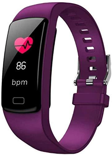 Pulsera inteligente fitness tracker impermeable reloj inteligente pulsera deportiva-púrpura