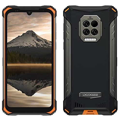 DOOGEE S86 Pro Móvil Resistente, Batería 8500mAh, Termómetro de Infrarrojos para La Frente,8GB+128GB,IP68 Smartphone Antigolpes,Altavoz Potente 2W,Cámara Cuatro 16MP, Gorilla Glass 6,1'',NFC Naranja